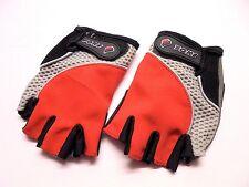 Yoke Cycle Gloves Red Black Grey Medium Girls