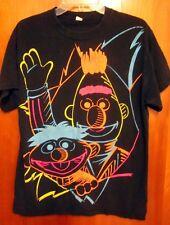 BERT & ERNIE rainbow pride tee neon 2008 med T shirt Sesame Street retro Muppets