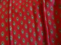 ancien dessus de lit1place rouge ,provençal ou récup de ce tissus