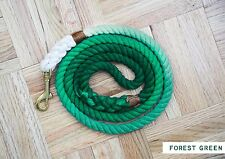 OMBRE DOG LEASH - FOREST GREEN (medium)