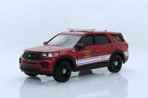 2020 Ford Explorer Detroit Fire Department Chief Car 1:64 Scale Diecast Model