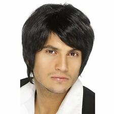 60s Black Short style Pretty Boy Band Mens Icons Celebrity Music Fancy Dress Wig
