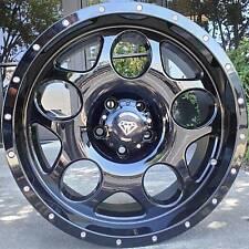 "17x8 White Diamond WD-3243 5x114.3 (5x4.5"") Glossy Black Custom Wheels -10mm"