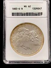1883-O Morgan Dollar ANACS MS62 Edge Toning