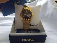 Seiko SGF536 gold color men's watch black dial Japan quartz 7n43-9048 near mint