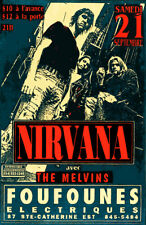 Nirvana Melvins Live Montreal Reprint 11 x 17 High Quality Poster