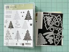 Stampin Up Peaceful Pines Stamp And Die Christmas Set