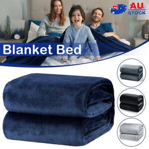 Soft Luxury Large Blanket Warm Faux Fur Throw Fleece Sofa Bed Sheet King Size