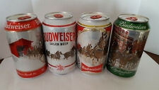 """New listing Budweiser Holiday Stein Can"""", 12 Oz Can *Set Of Four (4). Bottom Open Empty"""
