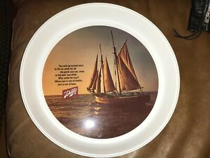 """Vintage Schultz Beer Thermo-Serv 13"""" Plastic Serving Tray -  Near Mint"""