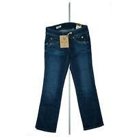 Pepe Jeans Perival Damen Hose Stretch straight leg low waist 28/30 W28 L30 Blau