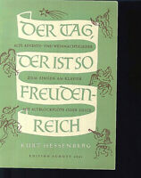 Kurt Hessenberg ~ Der Tag, der ist so freudenreich ~ Flöte oder Geige und Piano
