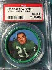 1962 Football Salada Coin #110 Fred Carr PSA 9