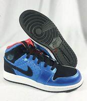 New Nike Jordan 1 Phat Sz 6.5Y ( 8.0 WMNS) 364781 408 Black 39 DMP XI III Blue