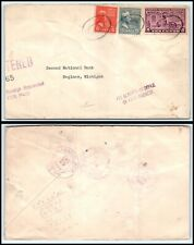 1939 US Registered Special Delivery Cover -Kalamazoo, Michigan to Saginaw, MI Q1