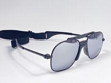 Vintage Zeiss Black Sports Oversized Mirror Lens 1970 West Germany Sunglasses