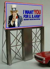MILLER ENGINEERING 882151 O/HO UNCLE SAM WANTS YOU Train Neon BB Sign FREE SHIP