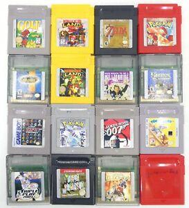 Nintendo Game Boy Games Lot of 16 - Donkey Kong, Zelda, Pokemon & More
