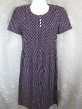 Vintage Jessica Howard Dress Size 6P 6 Petite Polka Dot Shift Pintuck Pleated