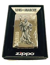 Zippo Custom Lighter Samcro Sons of Anarchy SOA Name Reaper High Polish Chrome