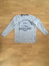 Sweat t-shirt manches longues homme Serge Blanco gris taille M