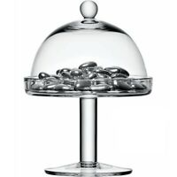 Clear transparent Glass cake stand dome 20 cm H with lid birthday cake wedding