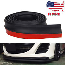 25m Black Car Bumper Lip Splitter Body Spoiler Skirt Valance Chin Protecto
