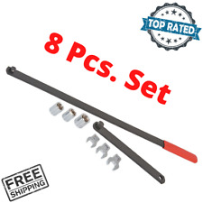 Wrench Serpentine Belt Tension Tool Kit Automotive Repair Set Sockets 8 Pcs. Set