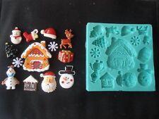 Silicone Mould CHRISTMAS HOUSE Sugarcraft Cake Decorating Fondant / fimo mold