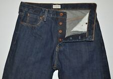 Greige Manufacturing Co Sz 34 X 34.5 Long Men's SELVAGE Blue Jeans Relaxed Taper