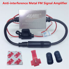 FM Signal Amplifier Anti-interference Metal Auto Car Antenna Radio FM Booster