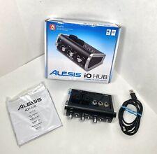 Alesis iO Control Hub 2 Channel USB Audio Interface W/ Original Box Manual Cable