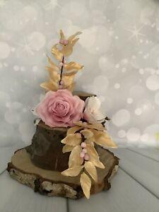 Pink & Gold Cake topper/decoration