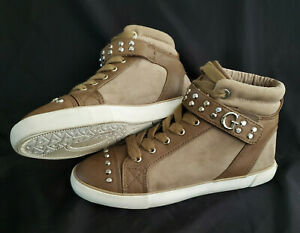 Guess Womens Tennis Shoe Sneaker WgSterling Hi Top Suede Studded Womens US 7 M