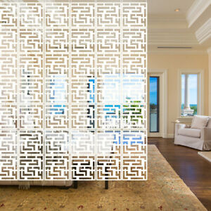 """12x White Hanging Screen Room Divider Panels Partition Wall DIY Home Decor 11"""""""