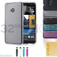 32nd Crystal gel case cover for HTC ONE M7 + FREE screen protector and stylus