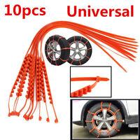10X Universal Car Truck Snow Anti-skid Wheel Tire Chains Accessories 175-295mm