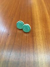 Made in USA Natural Wood/Resin Teal Stud Earrings Starlight Woods Handmade