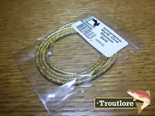 GOLD HOLOGRAPHIC MYLAR CORD MEDIUM - NEW HARELINE DUBBIN HOLO FLY TYING MATERIAL