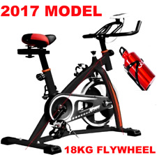 HEAVY DUTY 18KG FLYWHEEL EXERCISE BIKE HOME FITNESS GYM LED MONITOR PROGEN