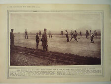 """1914 WW1 PRINT. """" WHEN FOOTBALL MAY BE PLAYED: """"  RARE"""