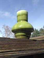 Vintage Asparagus Green Drip Glaze Bulbous Interesting Vase Made In Japan