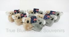 24x Australian Souvenir Brown and Grey Koala Clip-On with Flag
