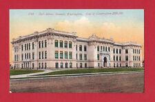 EVERETT WASHINGTON WA HIGH SCHOOL BUILDING OLD VINTAGE POSTCARD CIRCA 1910 COLOR