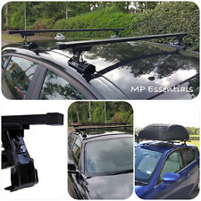 Heavy Duty Black Car Roof Rack Rail Bars to fit Volkswagen Polo Mk3 (1994-2001)