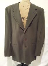 Olive Green Cashmere Wool Blazer Coat Suit Jacket Italy US 40L 41L EUR 50L