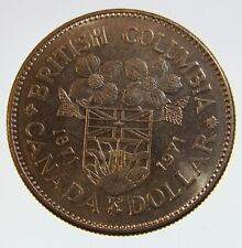 1871 - 1971 Canada 1 dollar coin British Columbia centennial coin