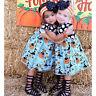 Toddler Kids Baby Girl Halloween Pumpkin Party Princess Dresses Casual Sundress