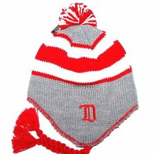Detroit Red Wings CCM Vintage NHL Pom Pom Knit Hockey Hat Beanie Toque Chullo