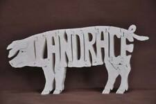 Landrace Pig Swing Hog Farm Animal Puzzle Wood Amish Made Toy NEW
